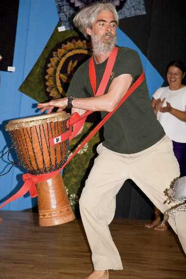 Nowick drumming with Moon Dance, Victoria