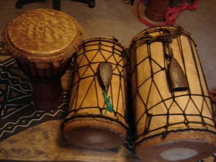 djembe and dununs from Guinea